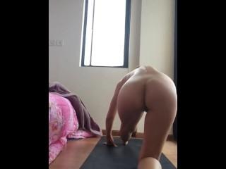 Nude Yoga, tight college body