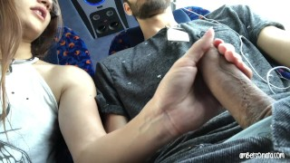 Girl my cum swallows bus real public risky real