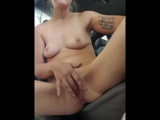 Playing with my pussy in the boomerang at the carwash.cum with me!& enjoy!!