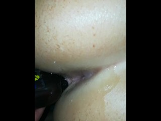 Oiling up Austrian amateur girls asshole and pussy, very wet Austrian cunt