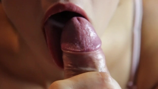 Romantic blowjob and foreskin play - licking frenulum Girl tinter