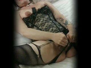 Lingerie Fun with my Big Clit