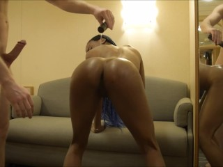 Perfect Ebony Teen Twerks Big Fat Oily Ass On Tinder Guy's Lucky White Dick