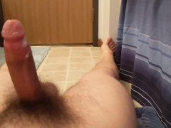 Young Teen Edging In The Bathroom