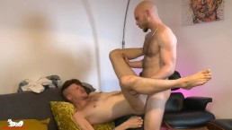 Kieron shoves his thick cock deep into Orson's tight hole