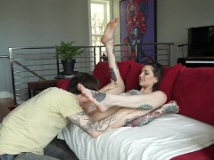 Tattooed Couple- Fucked Rough