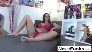 Big tittie hottie Alison Tyler is interviewed then plays