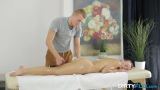 Preview 2 of Dirty Flix - Pola Sunshine - Dream pussy deep oil massage