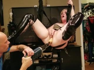 Leather Leggings Sex Swing