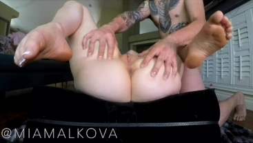 HOT girl with perfect ass squirts and cums harder than ever!