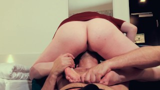Facefuck Orgasm and Screaming DoggyStyle | Big Ass Ginger in Red Dress