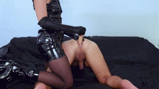 Latex milf mistress prostate milking with a dildo - rubs the cum in his ass  femdom mistress prostate massage prostate toy pegging his ass prostate handjob prostate cumshot prostate milking femdom milking pegging femdom prostate prostate orgasm mistress pegging amateur femdom pegging milking femdom