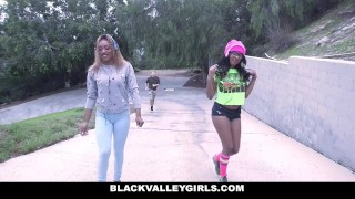 BlackValleyGirls - Gamer Black Girls Share White Cock Butt fox