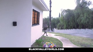 BlackValleyGirls - Gamer Black Girls Share White Cock Spitroast over