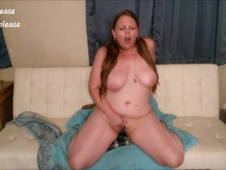 Hailey Please Rubs Her Pussy and Rides a Dildo