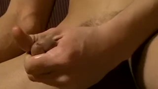 Horny young smoker jerks off before blasting a load of jizz Booty ass