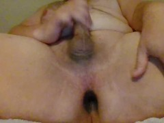 Married Bi man uses wife's butt-plug for first prostate play