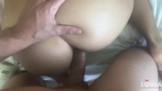 Eva with perfect homemade porno handjob tits