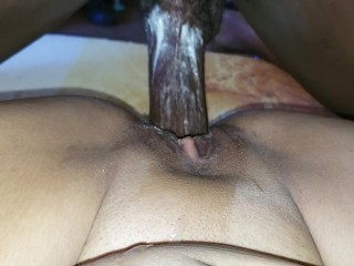 Littlejane09 latina creams on big black dick after cumshot creamy pussy creamy pussy
