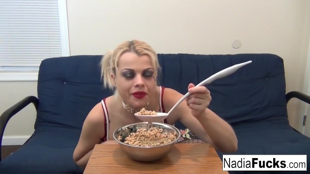 Bear naked native cereal - Sexy nadia eats cereal filled with soldiers