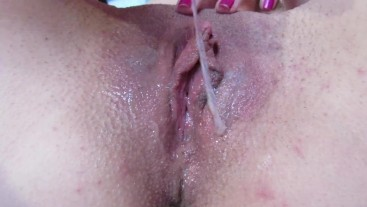 playing with my cummy pussy after orgasm
