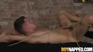 Bound jock gets a handjob from his master before ass fucking porno