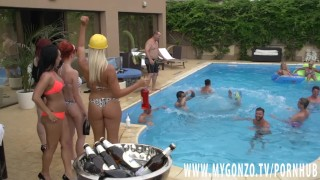 Pool Orgy With Kitty Core, Lana Vegas, Rosalina Love, Jezzi Cat And More College halloween