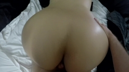 GRINDING HER BIG ASS ALL OVER COCK UNTIL IT EXPLODES! POV ASSJOB