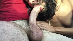Car Deepthroat Huge Cock and Cum Swallow