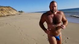 Slow Motion beach bikini running