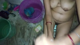 Indian Bhabhi Making Devar Cum on Her Boobs