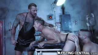 Daddy Doctor Fists His Hunk Monster & Disobedient Assistant