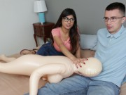 MIA KHALIFA - Nerdy Fan Gets To Lose His Virginity To The #1 Pornstar