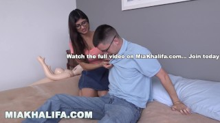 Khalifa to fan to the his mia nerdy gets pornstar lose virginity geek mia