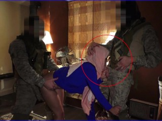 TOUR OF BOOTY - Local Working Arab Girl Entertains Soldiers