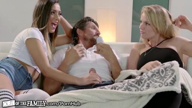 College Teen Girl Fucks Big Dick Step Dad & Her MILF Watches!