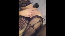 Sissy CD Chastity anal fun!