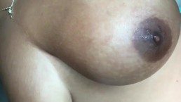 Messaging oil into my big tits