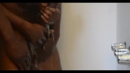 Black thug daddys BBC hot cum in the shower with roomate part 1