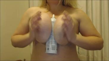 My Huge Titties Get Creamed