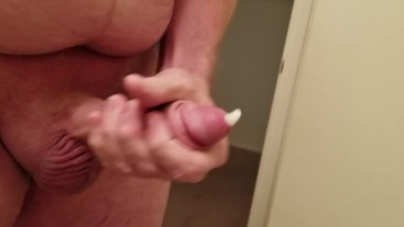 Quick Bathroom Jerk and Cumshot
