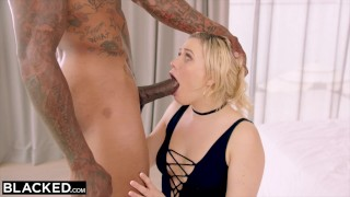 BLACKED MIA MALKOVA WORSHIPS BBC IN FIRST IR!! Teen natural