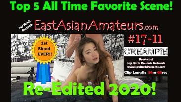 #17-11  FULL SCENE  18 yo Asian Creampie - Chinese Exchange Student