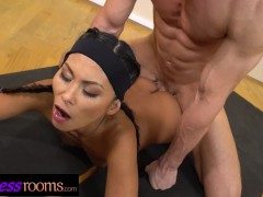 Fitness Rooms Tiny Asian cutie Suzie Q blows perv yoga instructor