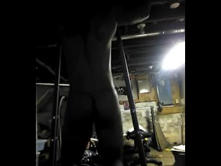 Pull ups in my thong