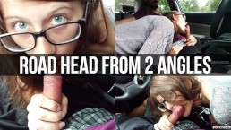 Road Head With Boyfriend In 2 Angles