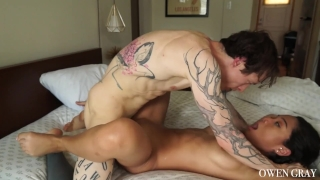 Tattooed orgasm non sex vid couple stop cum orgasms