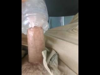 in public bus, masturbating