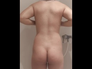 Young Mexican Bottom GAY Taking a shower