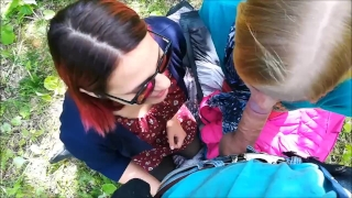 A at joined сity blowjob stranger the park public threesome threesome surprise